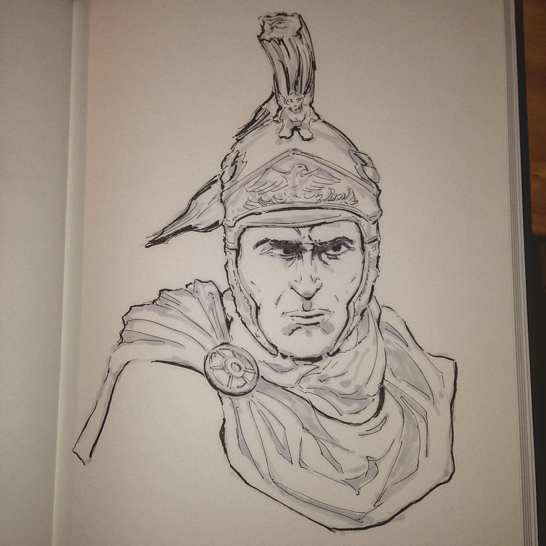 No.27 #inktober #arthabit #sketchbook #sketch #face #drawing #ink #art