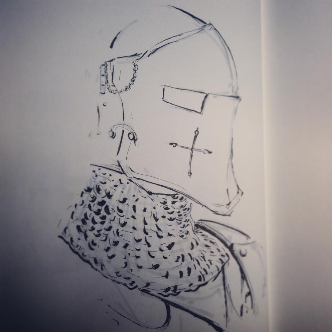 No.23 catch up #inktober #ink #sketch #arthabit #drawing #knight
