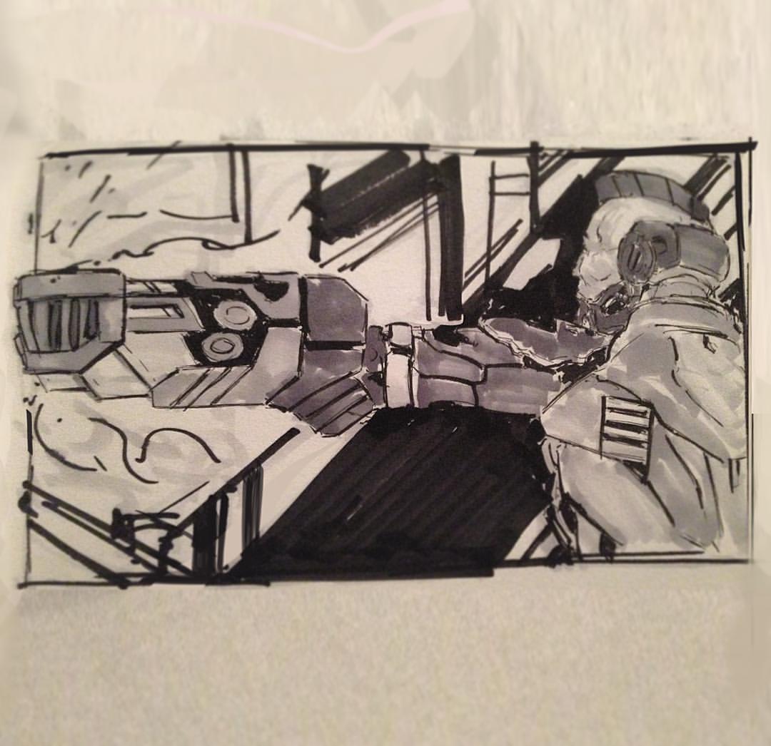 No.22 Kane #inktober #ink #sketch #sketchbook #arthabit #art #drawing #thumbnailsketch #scifiart
