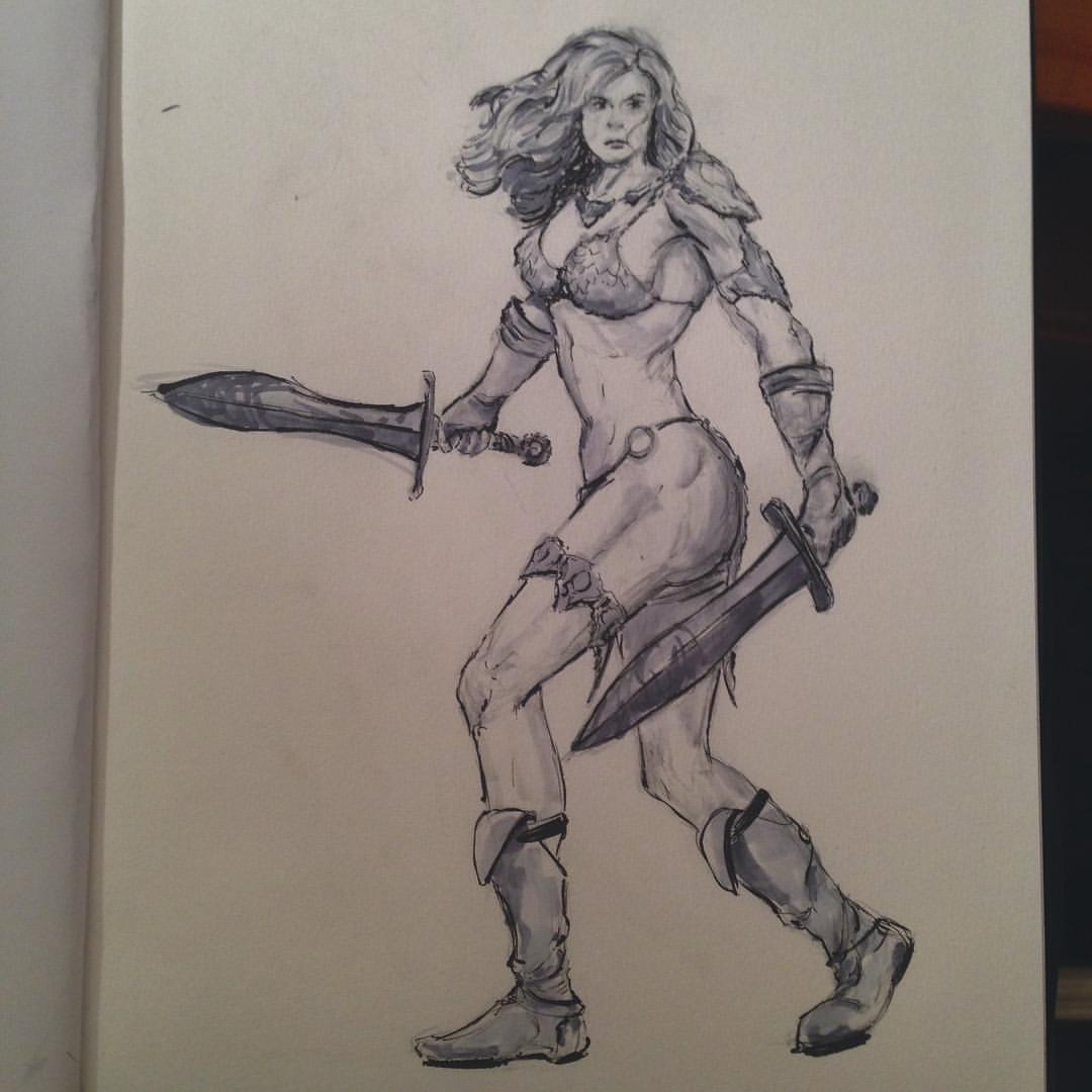 No.19 #inktober #ink #sketch #sketchbook #arthabit #art #warrior