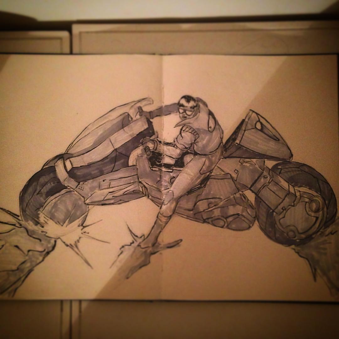 No.18 #inktober #ink #akira #anime #fanart #arthabit #art #sketch #sketchbook