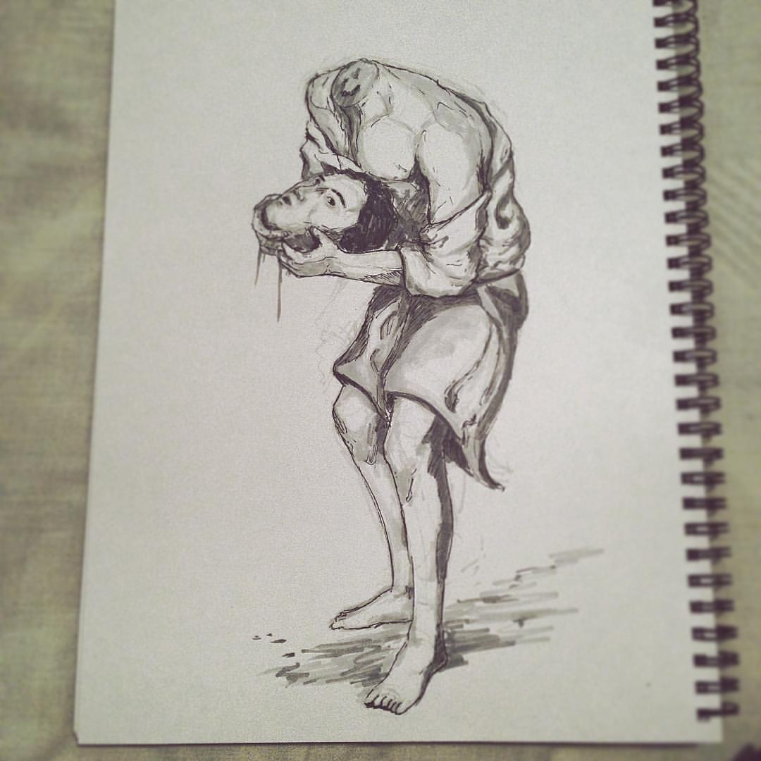 No.11 #inktober #ink #rubens #sketch #sketchbook #drawing #arthabit #art #illustration