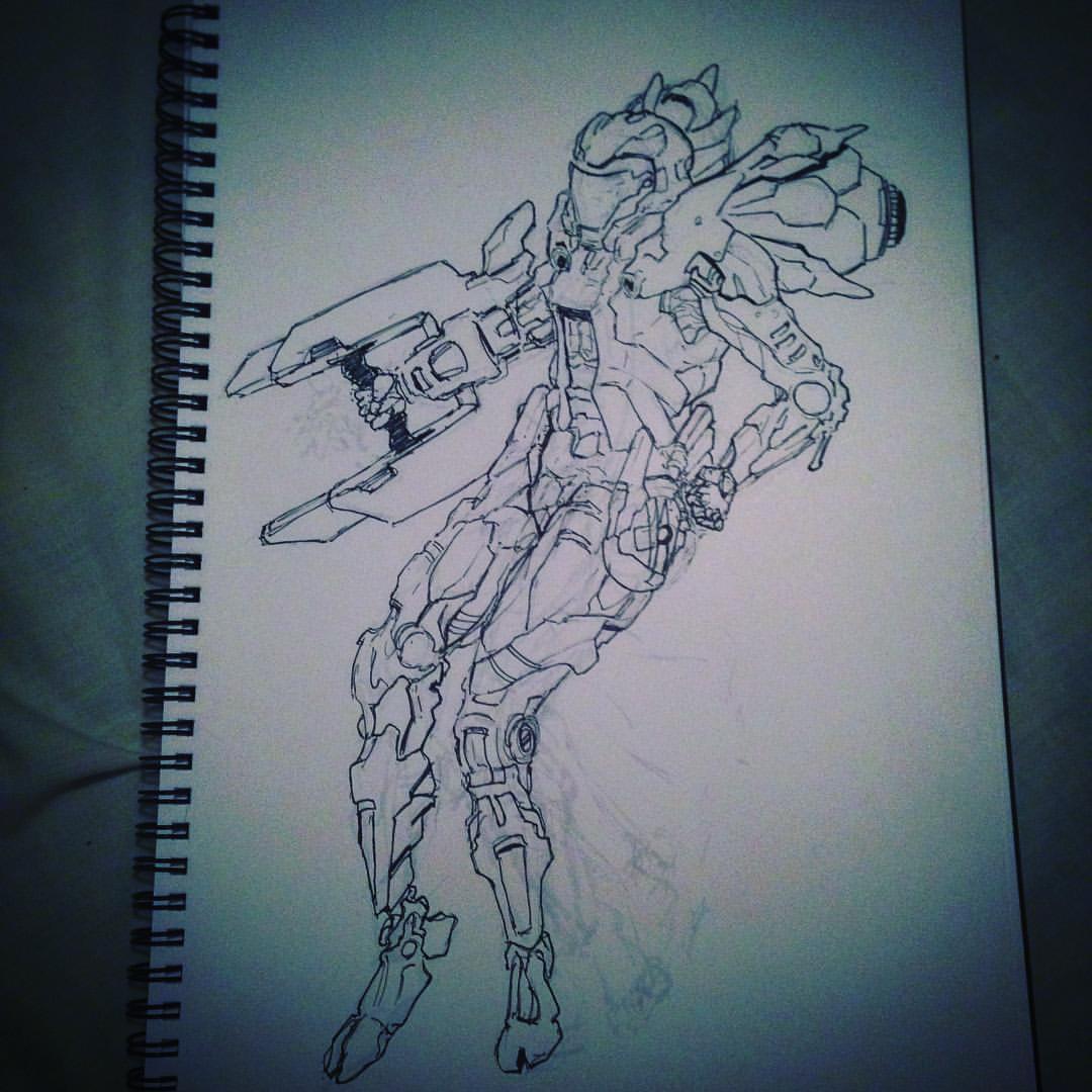 No.9 #inktober #ink #mech #scifiart #art #arthabit #sketchbook #sketching #drawing