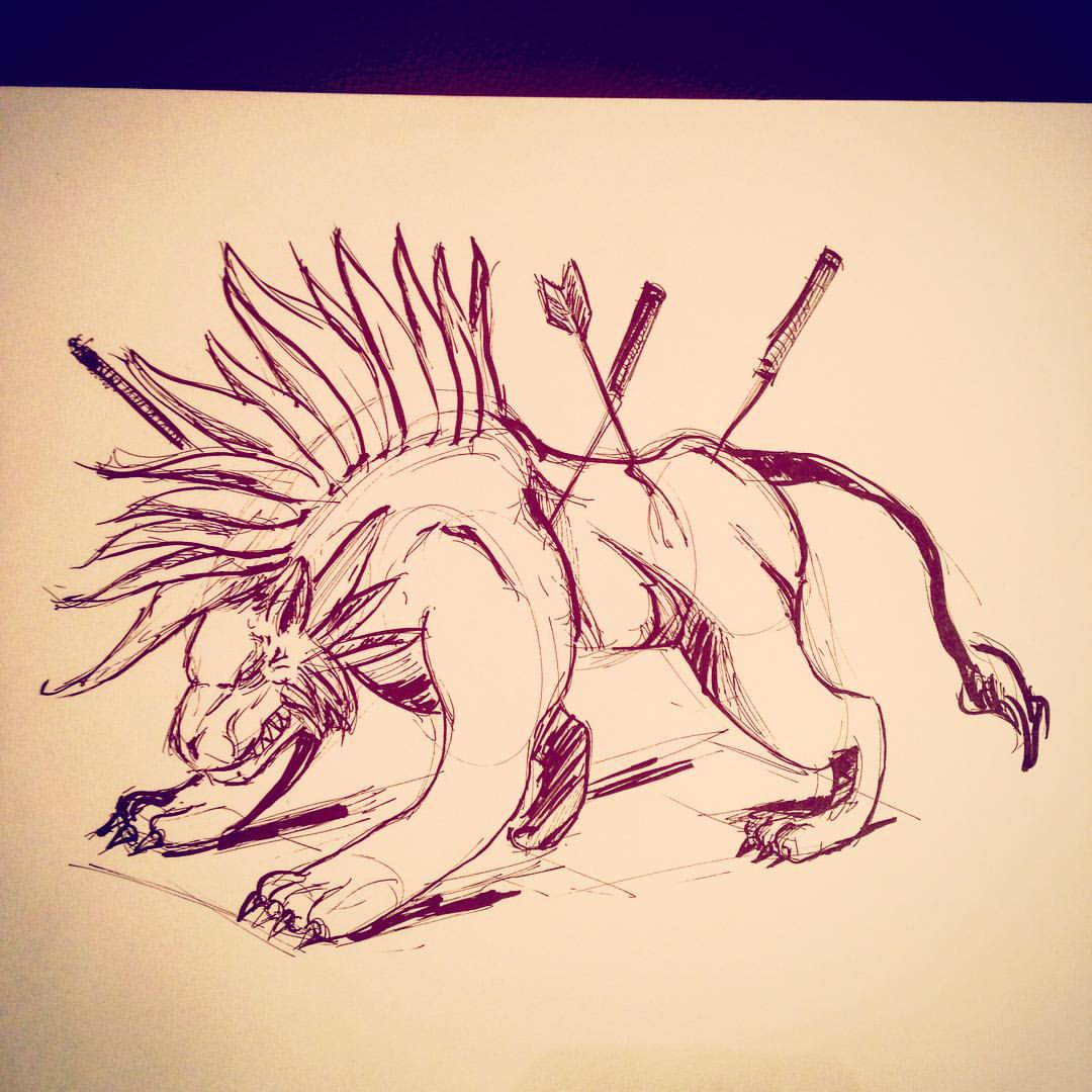 No.6 #inktober #ink #seto #finalfantasy #ff7 #fanart #arthabit #drawing #sketching #sketchbook  #art