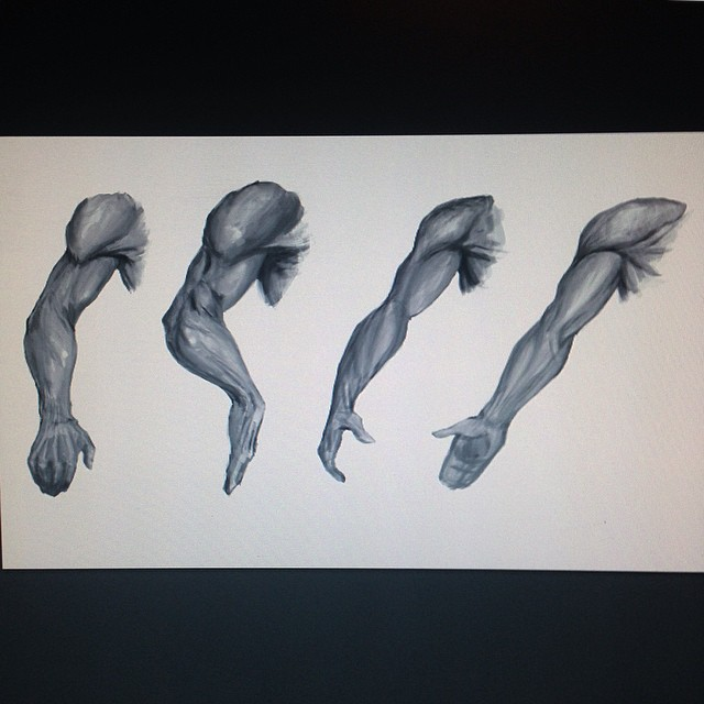 #arm #anatomy #study #sketching #painting #drawing #sketchbook #art #illustration