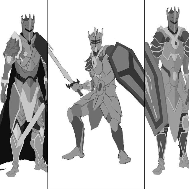 Knight #wip #illustration #drawing #sketchbook #sketching #art #armor #character #conceptart #design