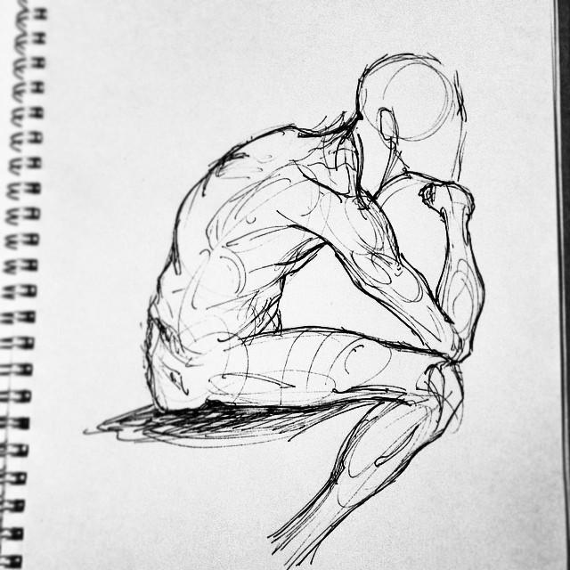 #anatomy #studies #art #illustration #drawing #sketching #muscles #sketchbook