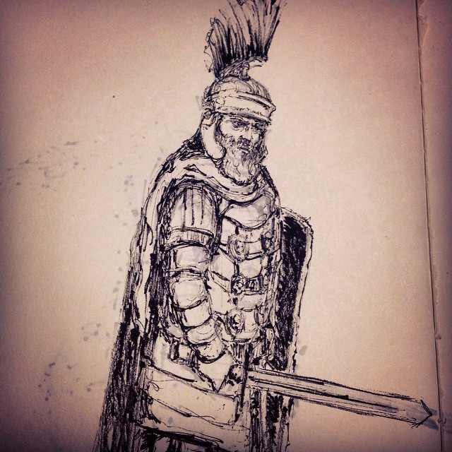 #romanempire #rome #warrior #sword  #battle #armor #art #illustration #drawing #sketchbook #inktober