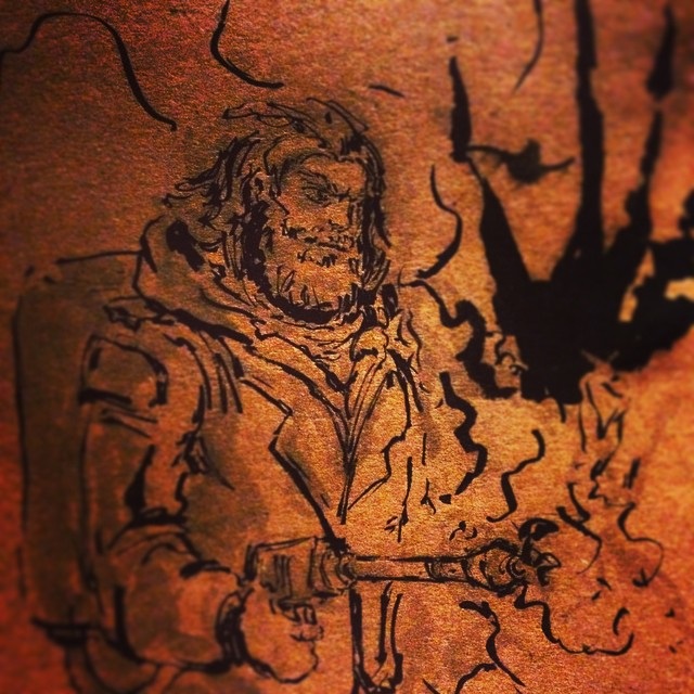 #inktober #art #thething #fanart #drawing #sketching #brushpen #horror #illustration