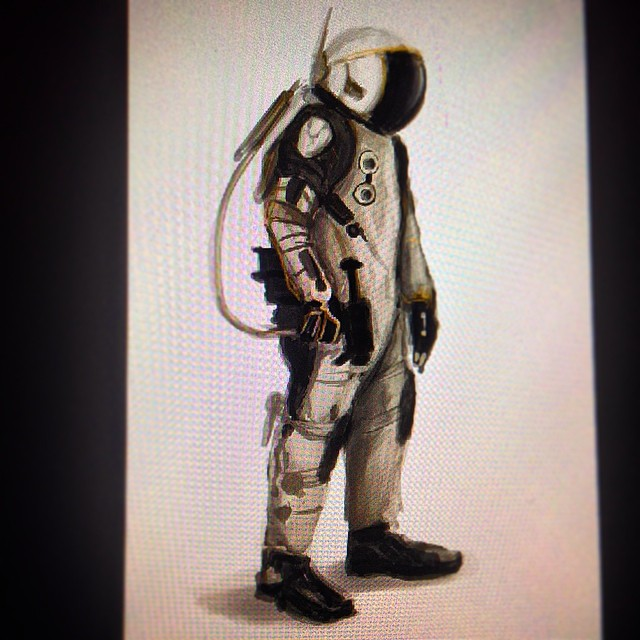 #space #spaceman #suit #astronaut #study #art #illustration #drawing #painting