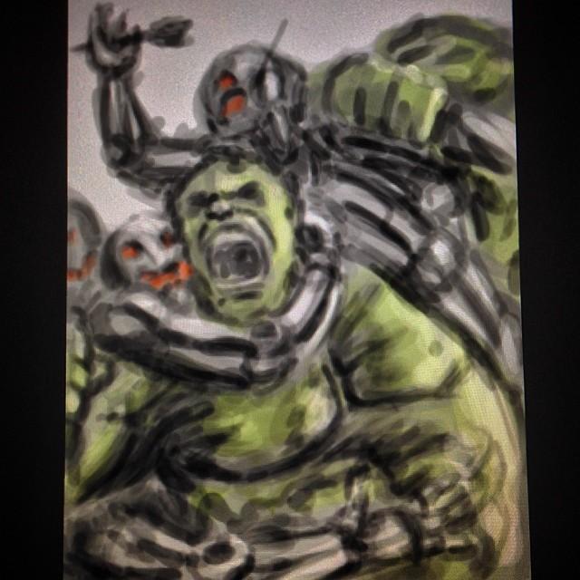 #fun #art #fanart #marvel #hulk #avengers2 #speedpaint #ultron #ageofultron #illustration #painting #sketch #sketchbook #drawing #comics #comiccon