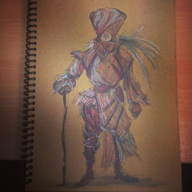 #study #masterstudies #anthonyjones #robotpencil #copic #marker #pencil #art #illustration #drawing #character #heavenshell