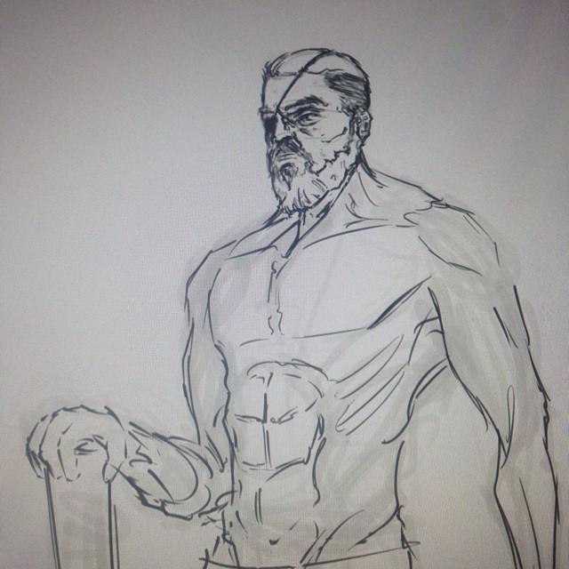 #wip #sketching #sketch #sketchbook #art #illustration #drawing #solider