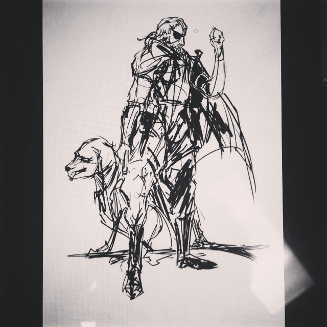 More #metalgearsolid #doodle #masterstudies #mgsv #mgs #phantompain #fanart #drawing #sketchbook #sketching