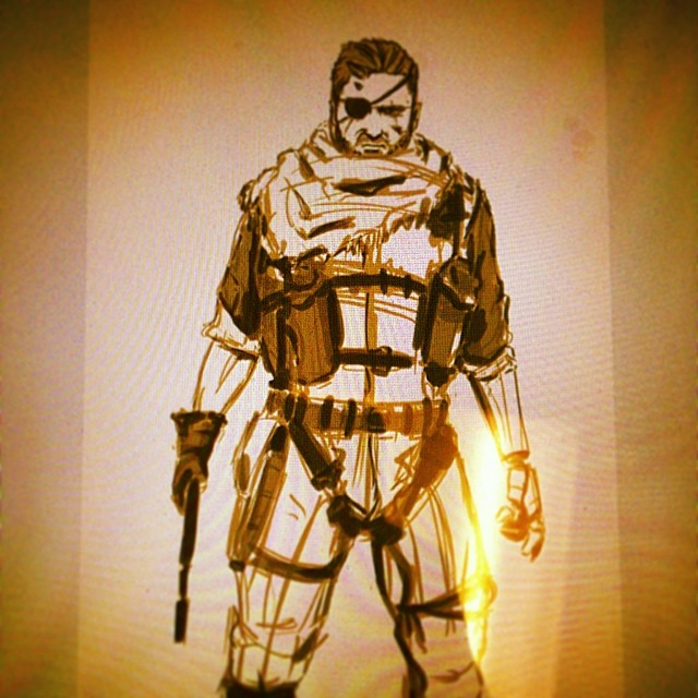 #mgs #phantompain #fanart #sketch #art #illustration #drawing  #wip #sketchbook #draweveryday #metalgearsolid #bigboss #snake