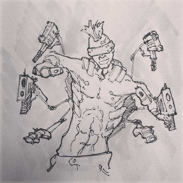 #cyber #punk #scifi #sketchbook #illustration #drawing #gun #sketch