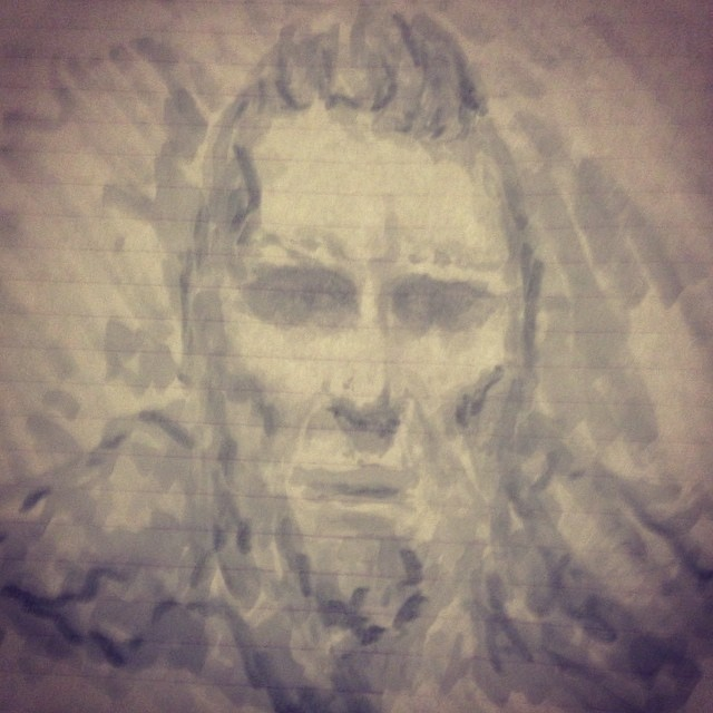 #Vikings #face #art #portrait #painting #sketchbook #warrior #copic #marker