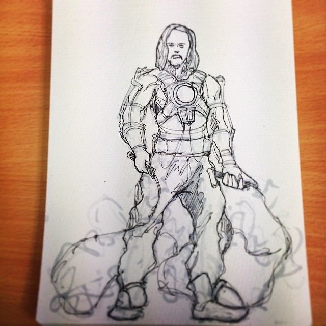 #ironman #marvel #fanart #whiplash #art #illustration #draweveryday #sketching #sketchbook #electric #evil