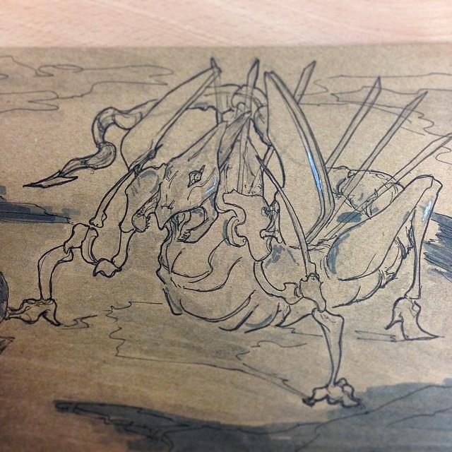 #art #illustration #drawing #sketchbook #draweveryday #dragon #beast #monster #sketching