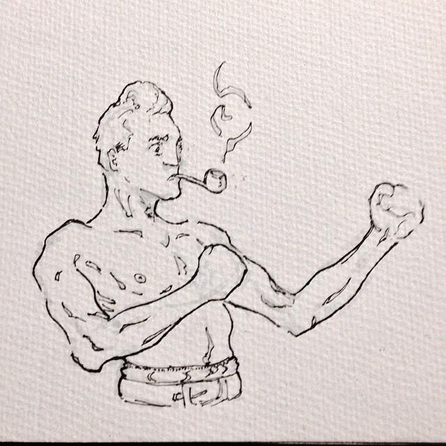 #boxing #fight #punch #pipe #smoke #art #illustration #drawing #ink #sketching