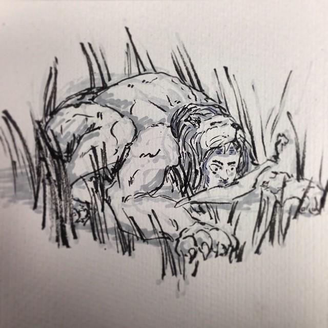 #hunting #amazon #warrior #art #illustration #drawing #jungle