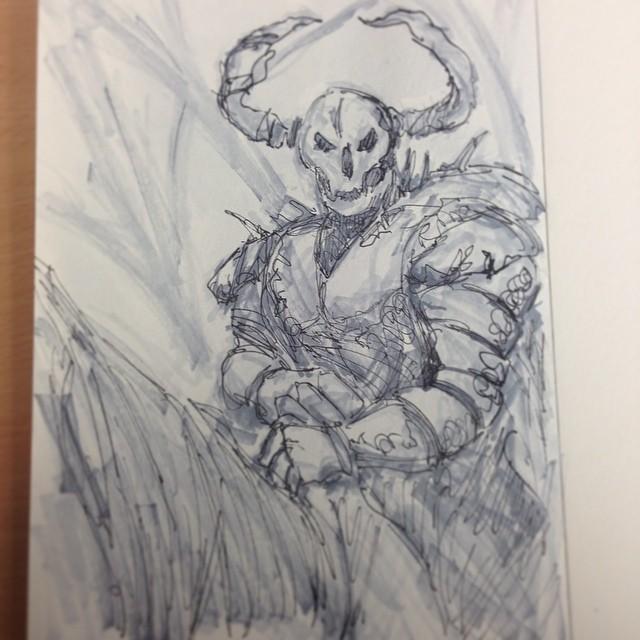 #art #illustration #ink #drawing #sketchbook #masterstudies #knight