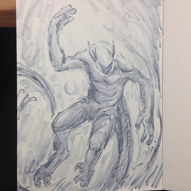 #deep #sea #creature #art #illustration #drawing #masterstudies #sketchbook