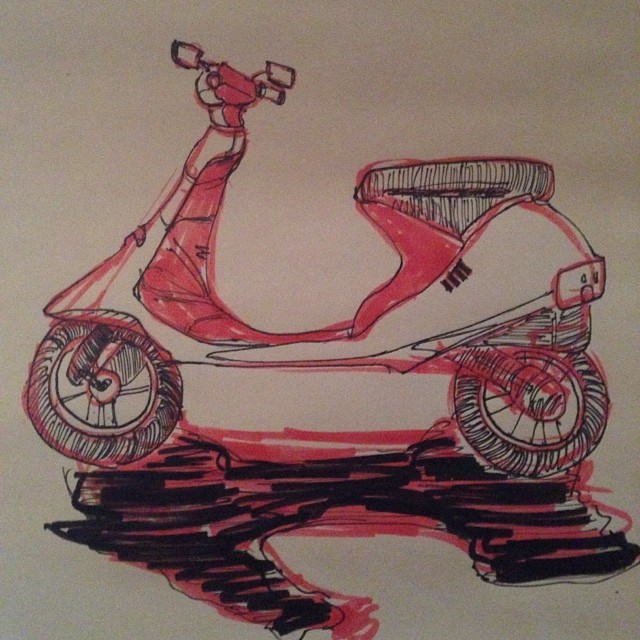 #scooter #illustration #drawing #art