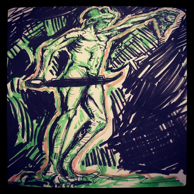 #art #illustration #drawing #statue #deathofversace