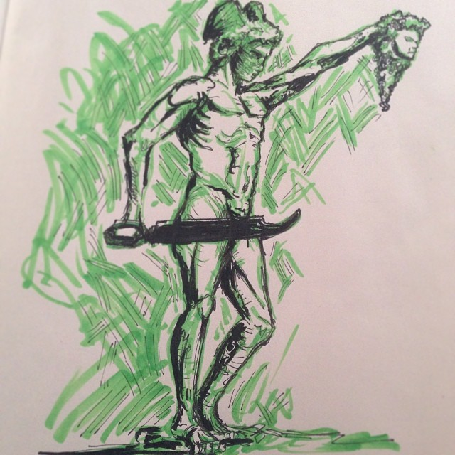 @estherique_forte #art #drawing #illustration #statue