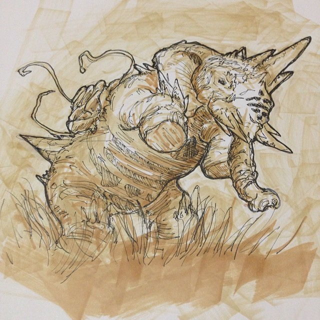 #art #illustration #drawing #design #elephant