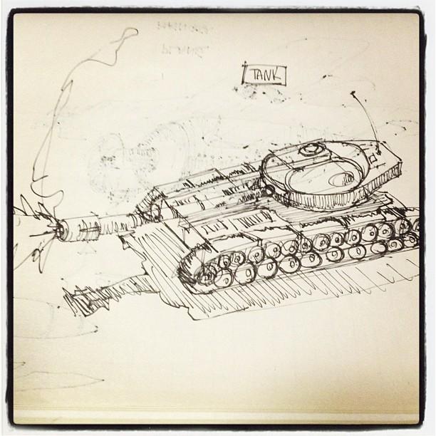 #art #illustration #drawing #tank