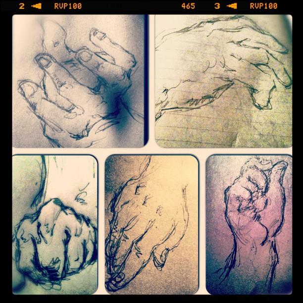 #illustration #drawing #art #hands (Taken with  Instagram )