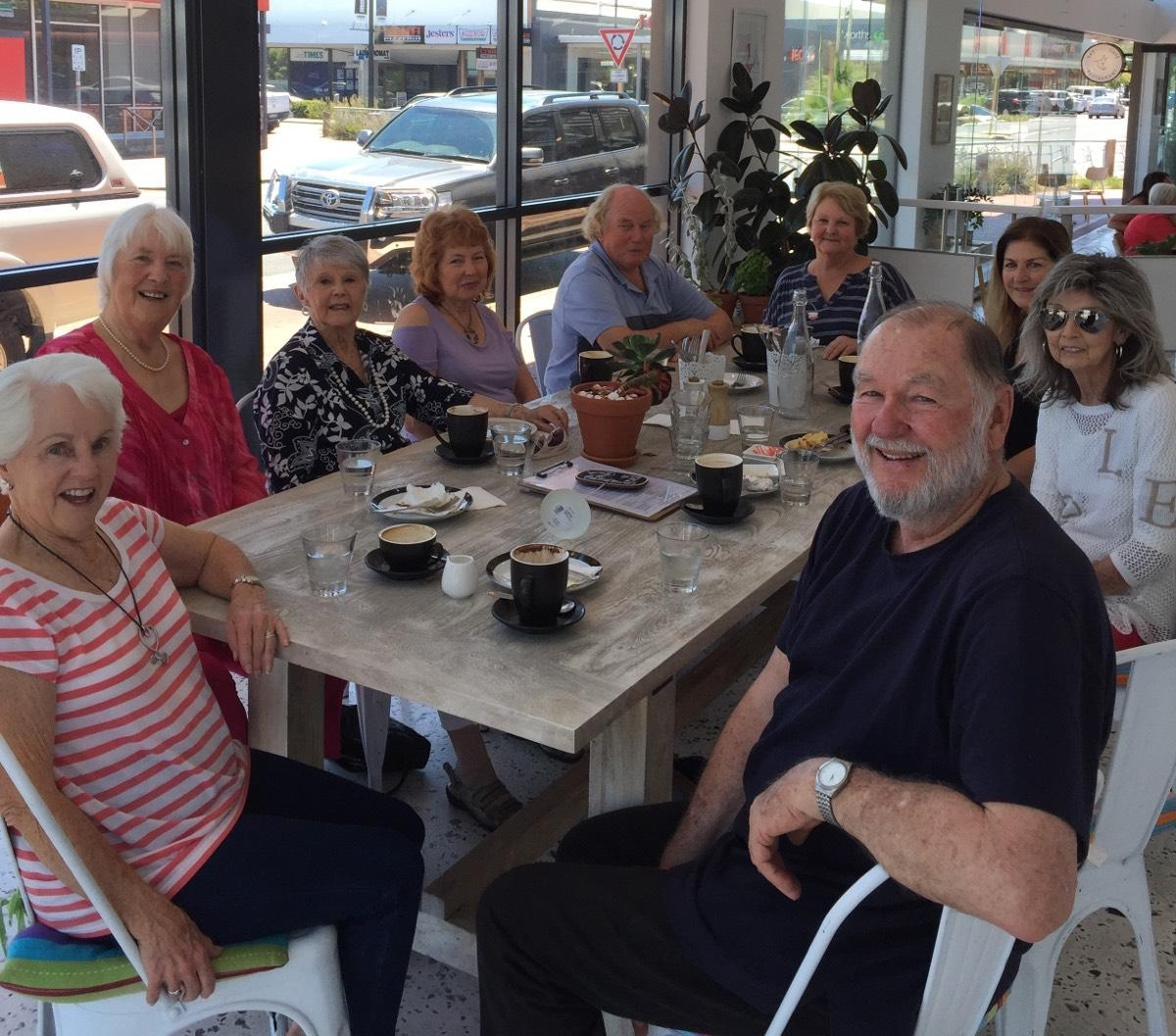 Primetimers (55+) gathers monthly at cafes -