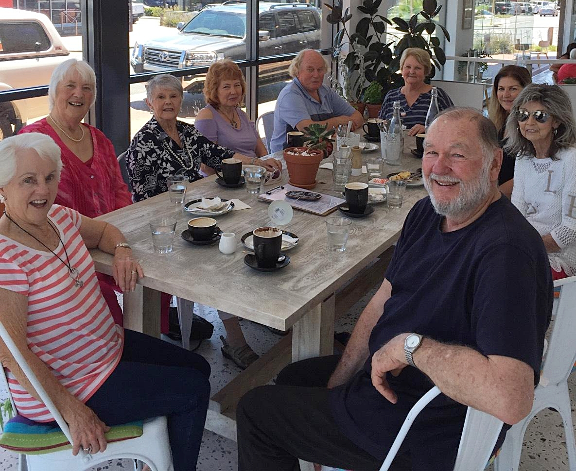 Some our Primetimers (over 55s). Catching up as they do regularly for coffee.