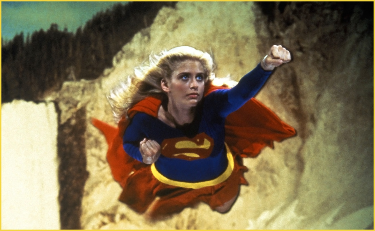 Helen Slater as Supergirl.