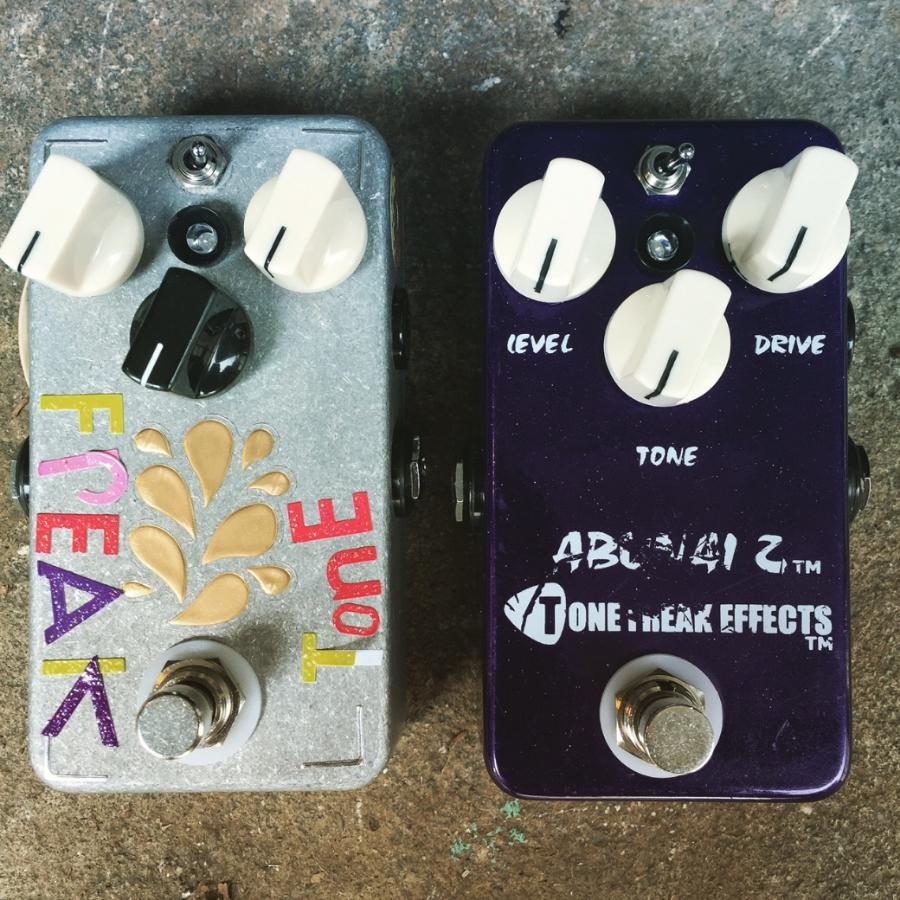 Tone Freak Fuzz Buzz and Abunai X tour boxes