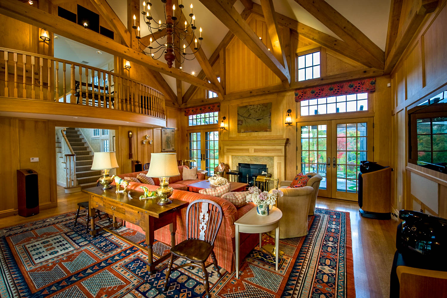 Southern New Hampshire Post & Beam Great Room