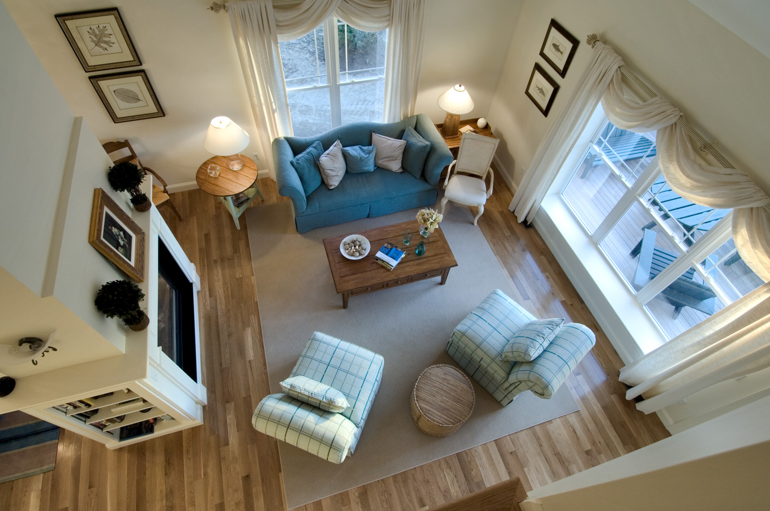 Sky View of Living Room