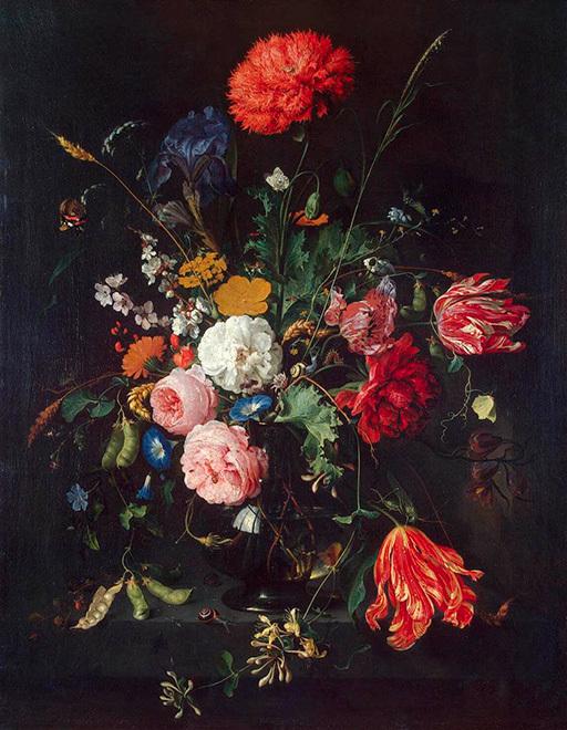 """Ян Давидс де Хем, """"Цветы в вазе"""""""