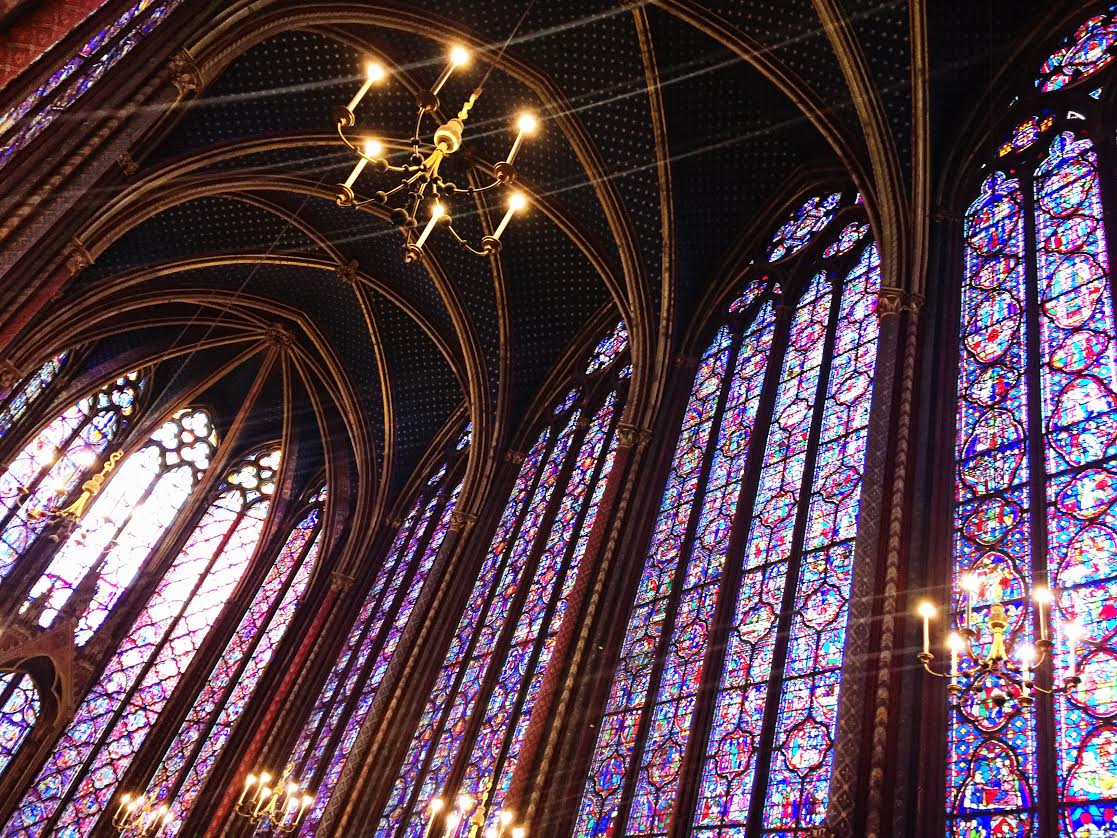 This is the Sainte-Chapelle in France. The only way to get up to this is up these small winding staircases, but I dare say it was worth it. Looks like a scene straight out of Beauty and the Beast right?