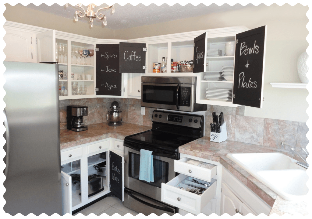 Paint Your Kitchen Cabinets With Chalkboard Paint Jessica Rayome