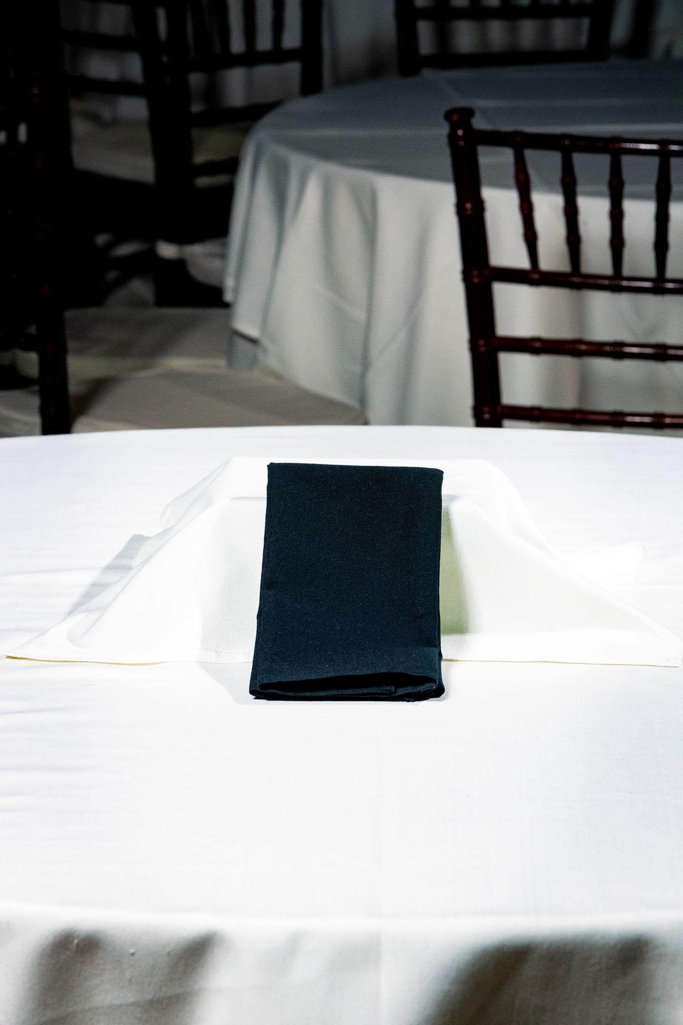 Black Napkin - Standard Fold n/c