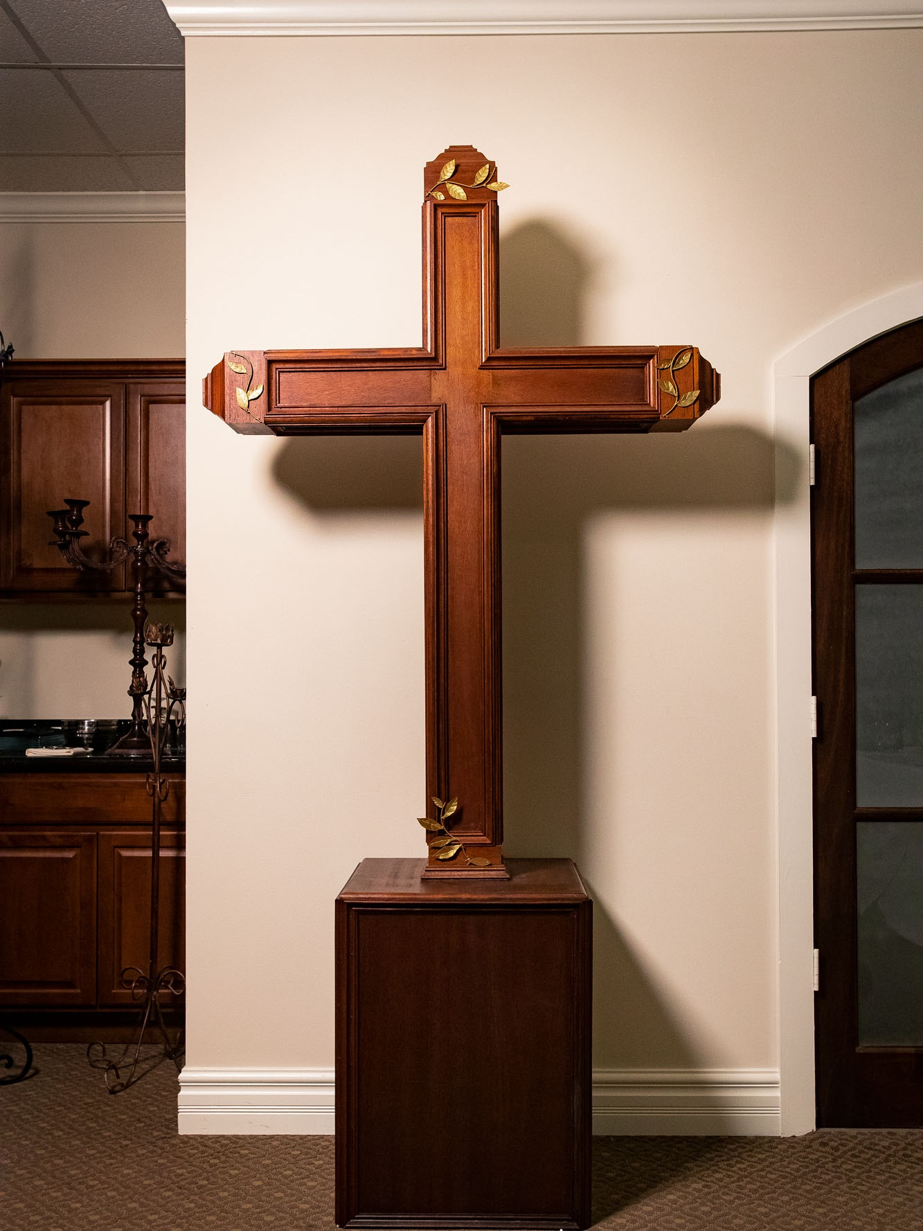 Wooden Mahogany Cross $199