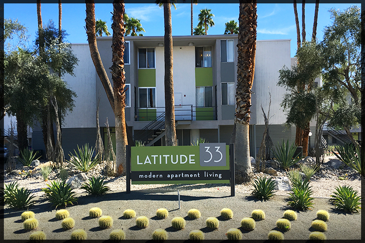 REHABBED - Latitude 33 Palm Springs.  121 Units