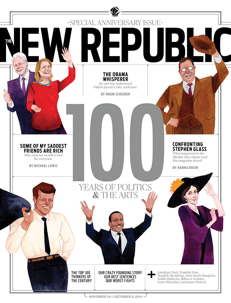 The current issue celebrates the100th anniversary ofthe  New Republic . That's got to be some kind of irony.