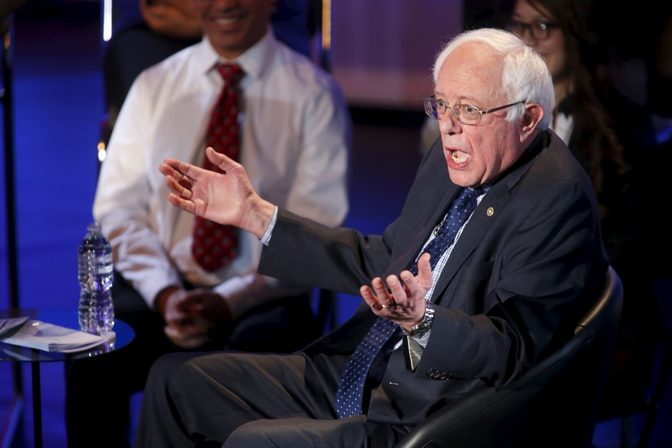 Bernie Sanders (Source:   The Atlantic  )