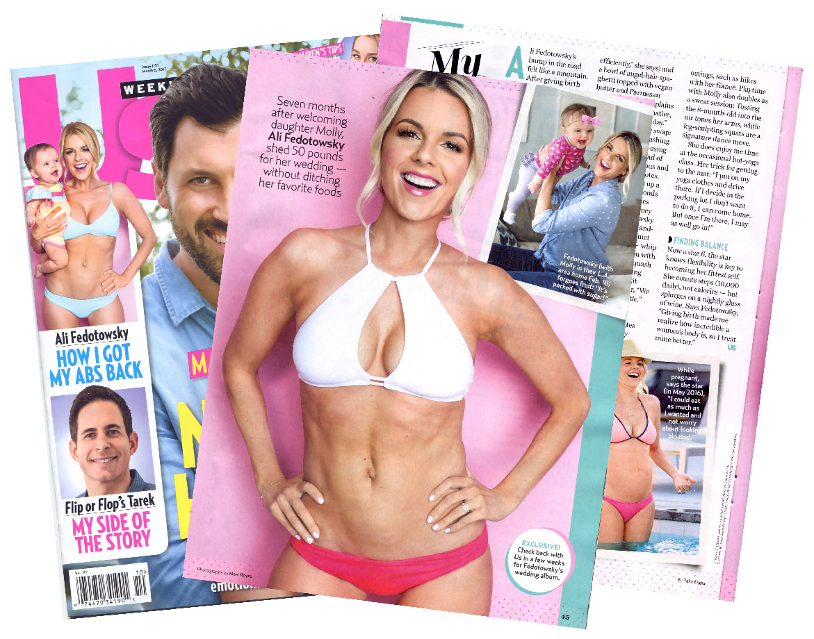 """Ali Fedotowsky """"US Weekly"""" Cover Chip + Feature"""