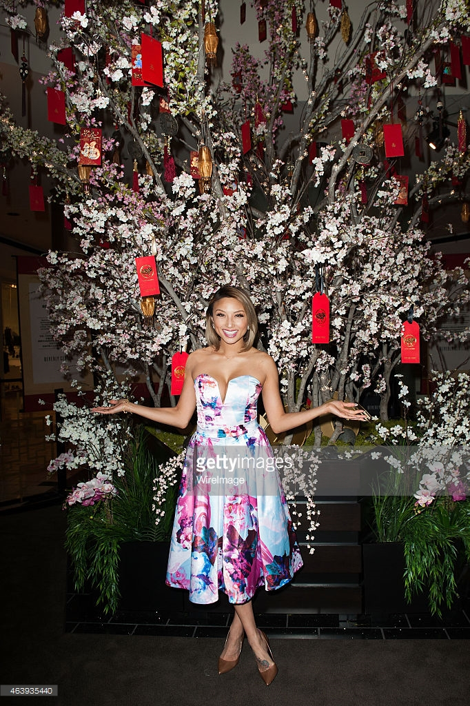 Jeannie Mai arrives at the Beverly Center to celebrate the Chinese New Year at The Beverly Center on February 19, 2015 in Los Angeles, California. (Photo by Jennifer Lourie/WireImage)