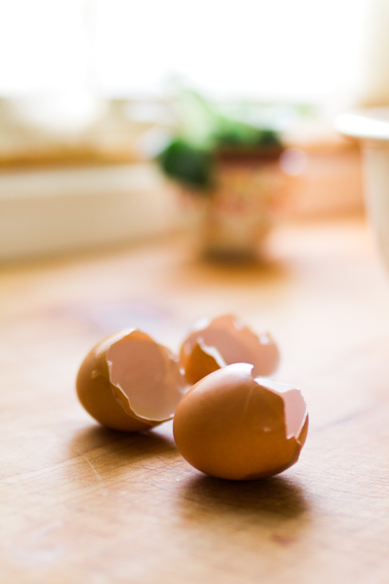 Kansas City small business lifestyle photography seven swans creperie eggshells on counter